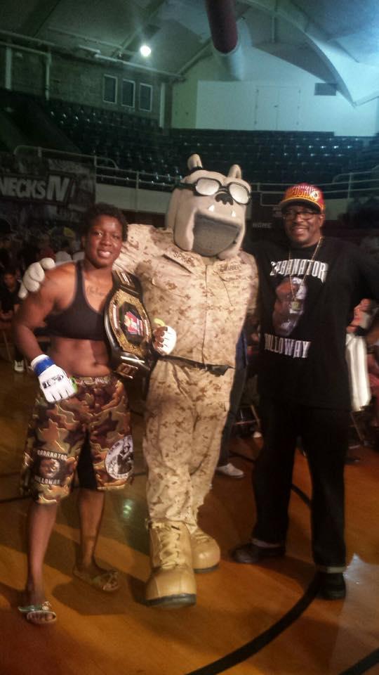 Gabby Gabanator Holloway wins her fight by Split Decision